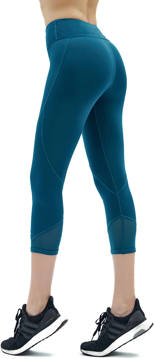 Yoga Pants, Women's Hips, Sweatpants, high Waist, Slim Fitness, Seven Points Fitness Pants,blueee,M