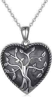 S925 Sterling Silver Heart Urn Memorial Ashes Keepsake Exquisite Cremation Pendant Necklace Ring Bracelet