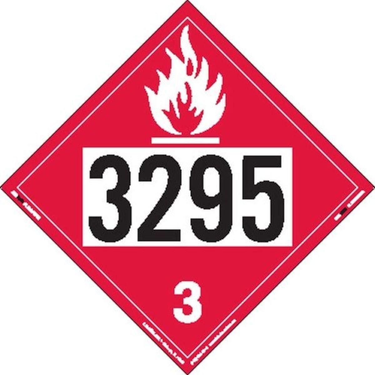 Max 77% OFF Labelmaster ZT2-3295 Indianapolis Mall UN 3295 Flammable Hazmat Placard Liquid Ta