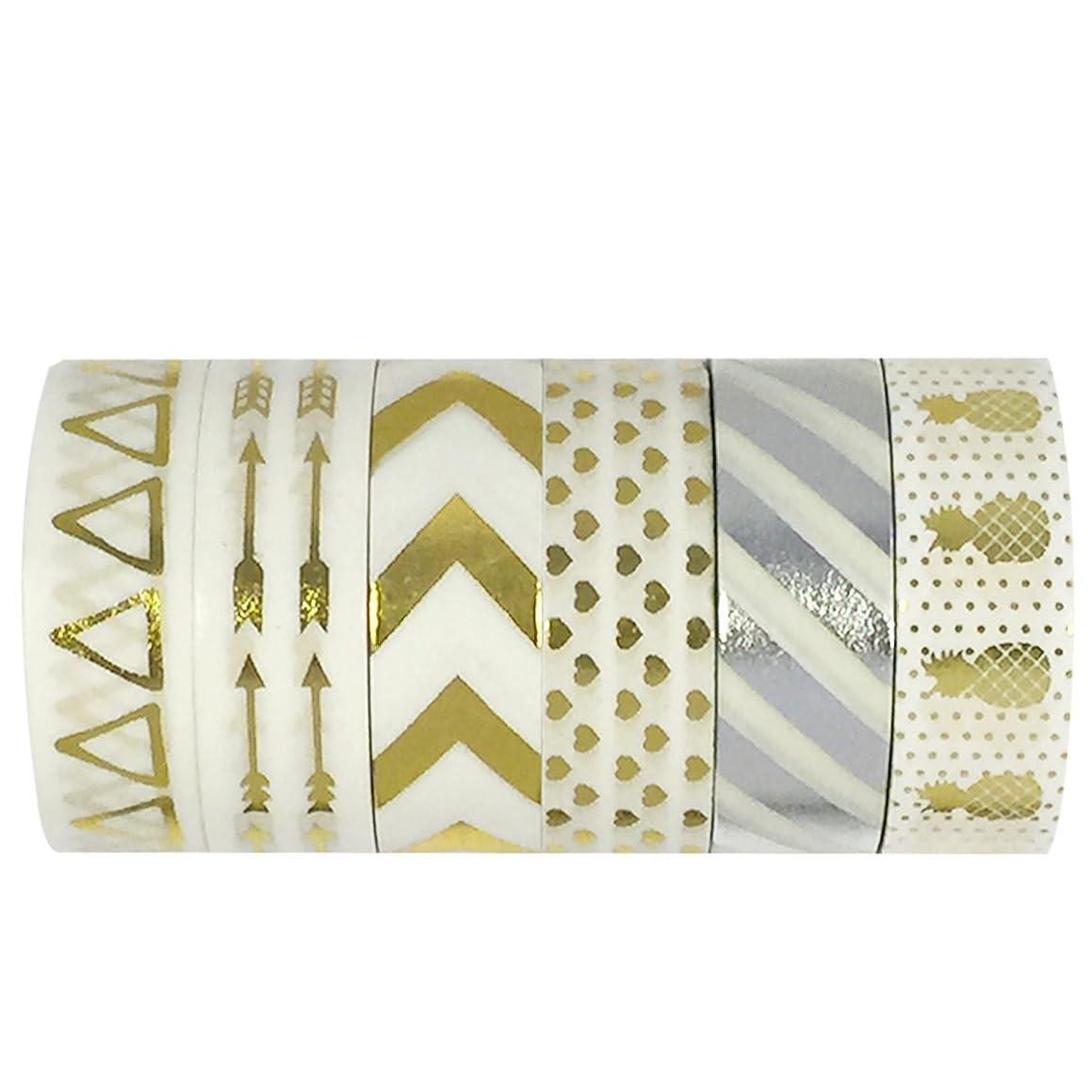 Allydrew Washi Tapes Decorative Masking Tapes, Set of 6, AD96