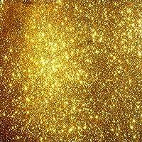 カスタムゴールデン3d天井壁画の壁紙 - 金粒子天井デザインアート壁画、リビングルームのロビーの天井の壁紙のホームデコレーション