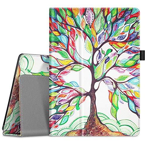 Fintie Hülle kompatibel für Lenovo Tab M10 / P10 - Folio Kunstleder Schutzhülle mit Standfunktion für Lenovo Tab M10 / P10 (10,1 Zoll) Tablet PC, Liebesbaum