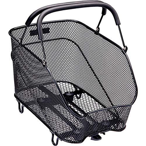 Racktime Unisex– Erwachsene Baskit Trunk Fahrradkorb, schwarz, 1size