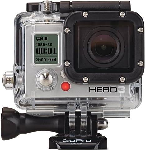 GoPro HERO3 White Edition - Videocámara de 5 Mp (estabilizador de imagen óptico, vídeo Full HD 1080p, resistente al agua 40m, WiFi) color blanco