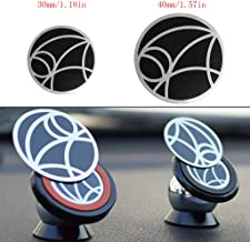 Cicitop 12 Pcs Metal Plate Replacement for Magnetic Car Mount Magnetic Phone Holder with Adhesive (30mm/1.18)