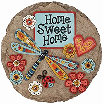 Spoontiques - Garden Décor - Home Sweet Dragonfly Stepping Stone - Decorative Stone for Garden