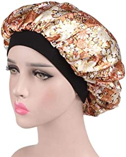 Long Hair Care Shower Cap, Hamkaw Women Take A Shower Makeup Beauty Night Cap with Soft Satin