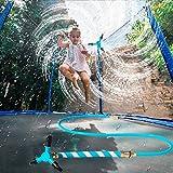 Zhangpu Trampolin Sprinkler, Trampolin Outdoor Trampolin Wassersprinkler, Trampolin Spielzeug Spray Wasserpark Sprinkler Summer Water Fun Sprayer für Kinder and Adults, Rotating Trampoline Sprinkler