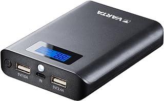 VARTA 7 800 mAh Power Bank (2 USB-portar 1,0 A och 2,4 A, LCD-display för laddning och urladdning, kompatibel med enheter ...