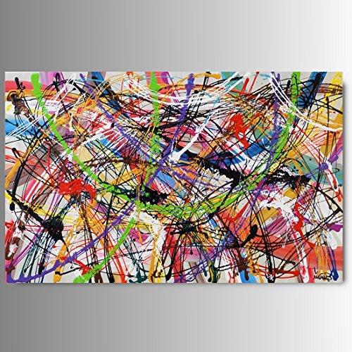 ART MMB 'ARCS - 1 Quadri Moderni Astratti Lilla Dipinto A Mano su Tela Gia' INTELAIATO