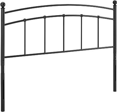 Modway Abigail Modern Farmhouse Metal King Headboard in Black