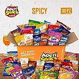 APERIBOX SPICY 30 - Snack box fantastica piena di snack salati, stuzzichini per aperitivo Fai Da Te e frutta secca. Almeno 30 prodotti, ottima idea regalo. Ampia varietà di snack piccanti!