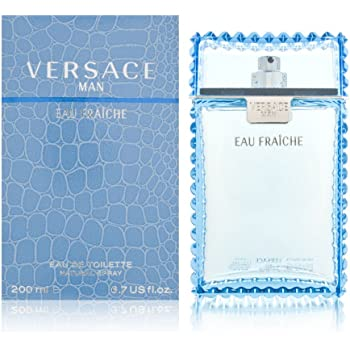 Man Eau Fraiche Eau De Toilette Spray Men by Versace, 6.7 Fl Oz