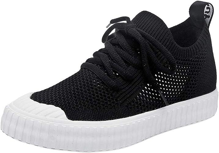 Hong Jie Yuan Chaussures pour Femmes Chaussures d'été Plates d'extérieur décontractées Chaussettes Stretch Chaussures Hautes (Taille   US7 EU39 UK5 CN39)