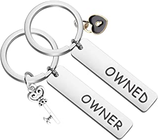 MAOFAED Couple Keychain Set Owner and Owned Keychain BDSM Gifts Daddydom Gift DDLG Gifts Babygirl Gift Couple Gift