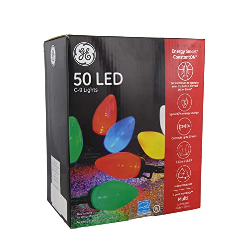 GE Energy Smart 50 Multicolor LED C-9 Holiday/Christmas Lights - 32.6ft