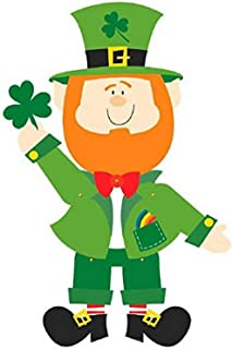 Amscan St. Patrick's Day Leprechaun Jointed Paper Cutout, One Size, Green