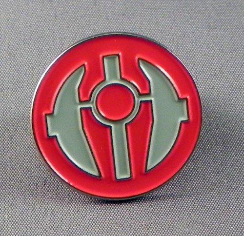 Broche en métal émaillé Motif Star Wars Sith ordre Insignia &(Rouge/gris)