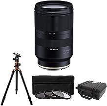 Tamron 28-75mm F/2.8 for Sony Full Frame E Mount w/KOAH Aphelion Professional Horizontal Tripod Bundle