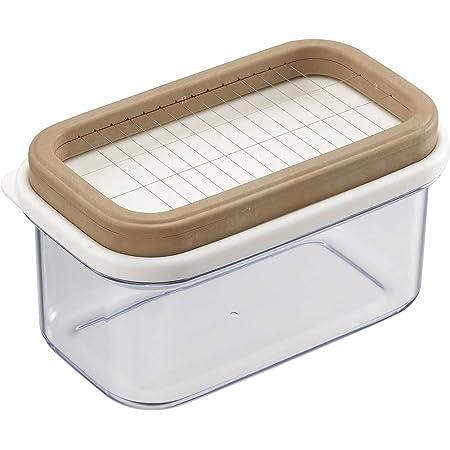 曙産業 バターケース 業務用のポンドバターを10グラムにカット 密閉保存ケースで酸化しにくい カットできちゃうポンドバターケース ST-3009 ホワイト/ブラウン/クリア