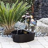 LYunMu Brunnen Hof Kunst Dekor, Lustige Harz Specht Wasser Brunnen Statue, Outdoor Metall Specht Brunnen Yard Kunst Dekor Für Garten, Terrasse, Terrasse, Veranda, Innenhof (15 * 10 * 6cm,Woodpecker)