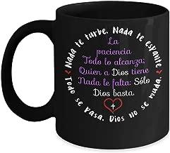 Nada Te Turbe - Solo Dios Basta -Taza Santa Teresa de Avila- Christian Mug in Spanish- taza con mensaje Cristiano 11oz
