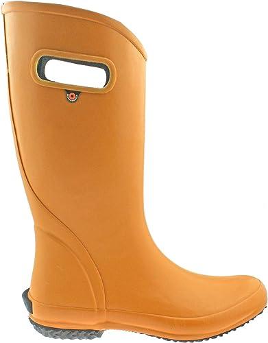 BOGS Ladies Waterproof Raindémarrage Solid Mustard Wellies 78662-UK 6.5 (EU 40)
