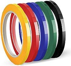 Whiteboardtape, kaartentape, zelfklevend papier, 5 mm x 50 m per rol, 5 pakken per pak (5 kleuren)