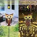 Tomshine Solar Lights, Outdoor Solar Garden Light, LED OWL Garden Decoration Solar Powered Stake Light for Lawn,Patio or Courtyard