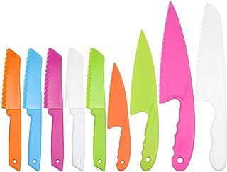 SelfTek 9 Pièces En Plastique Couteau De Cuisine Set Enfants Safe Cooking Chef Enfants Couteaux pour Fruits Gâteau Au Pain...