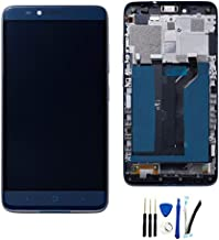 Full LCD Display Screen digitizer Touch Glass Assembly for ZTE Grand X Max 2 Z988 Replacement with/Frame Blue