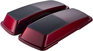 Crimson Red Sunglo 6 x 9 Saddlebag Speaker Lids Fit for 1993-2013 Harley Touring Street Glide FLH FLHX Hard Saddlebags