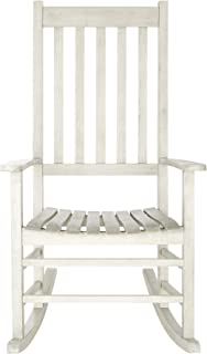 Safavieh Outdoor Living Collection Shasta Washed Rocking Chair, White