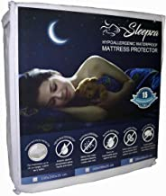Sleepza Premium Waterproof Mattress Protector - Hypoallergenic, Anti-Bed Bugs, Antibacterial, Anti-Dust-mites, Fitted Sheet Style, Single XL Size 120x200x25cm