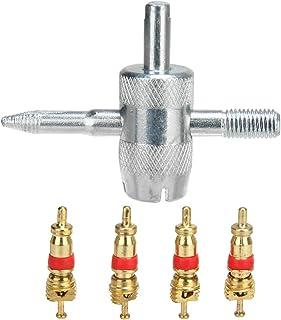 Fornateu 5pcs / Set para Coche Bicicleta de 4 vías válvula del neumático de la reparación