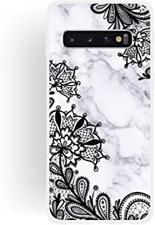 Quan Protection Cover Cell Phone Cases & Covers Lace Flower Matte Semi-Transparent TPU Marble Mobile Phone Case for Galaxy...