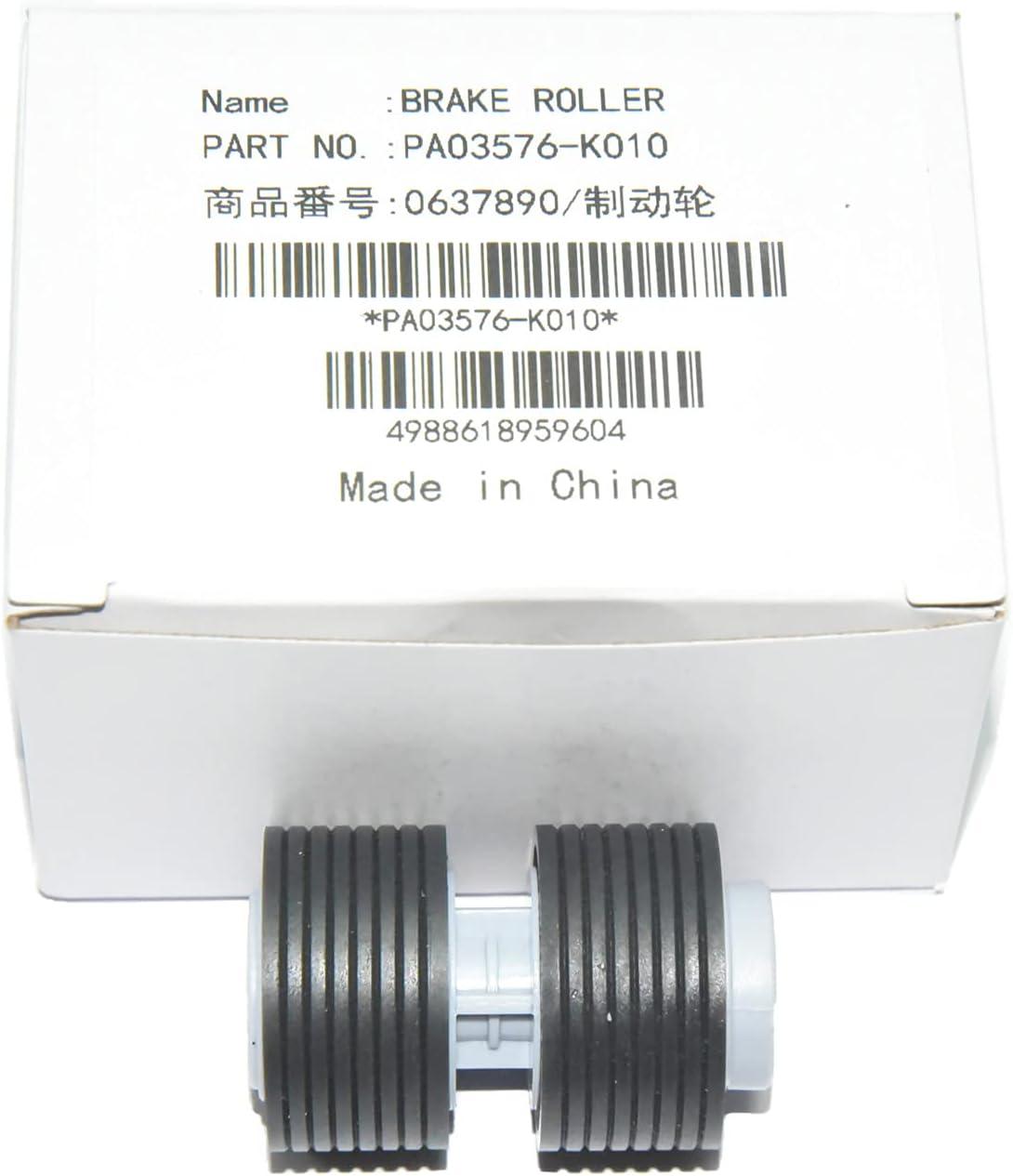 1set PA03338-K011 PA03576-K010 Scanner Brake and Pick Roller Set Compatible with Fujitsui Fi-6770 fi-6670 fi-6770A fi-5750C fi-5650C fi-5750 fi-5650 fi-6750 fi-6750S (PA03576-K010)