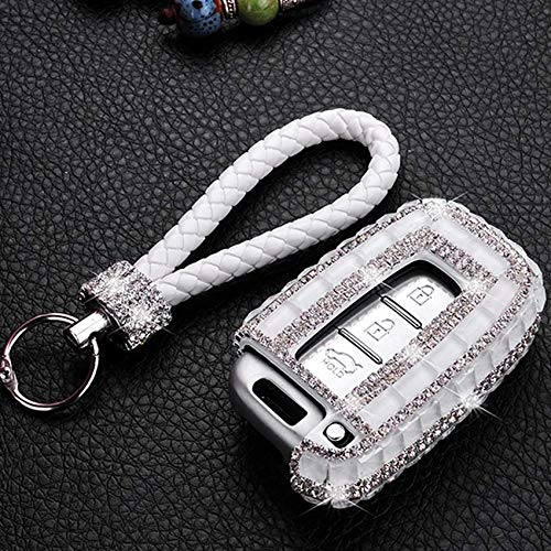 HDCF 3 Tasten Bling Glitzer Kristall Diamant Auto Schlüssel Hülle Auto Smart Fernbedienung Schlüssel Cover Autoschlüssel Gehäuse Autoschlüssel Gehäuse