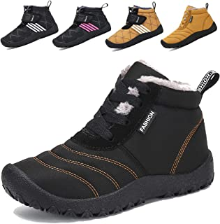 Voovix Kids' Snow Boots Girls Boys Winter Shoes Warm Fur Lined Ankle Booties Lightweight Non Slip Outdoor Shoes