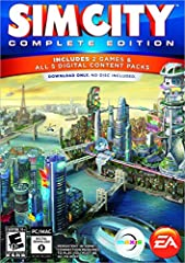 Get all the extras with SimCity: Complete Edition. Lay out streets, plunk down buildings and plot zones effortlessly. Each Sim that comes to live in your town is a unique individual, and they're quick to let you know how they feel. Play Offline or On...