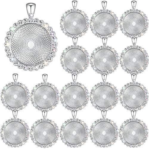 2 x Argent Antique ovale à motifs Cabochon Signet Vierge Pour Verre 18x13mm