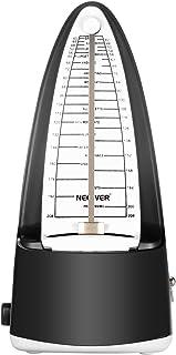 Neewer NW-708伝統的な風の機械式メトロノーム 正確なタイミングとテンポを備え ピアノ、ギター、ベース、ドラム、ヴァイオリンやその他の楽器、音楽愛好者、初心者またはミュージシャンに最適(黒)