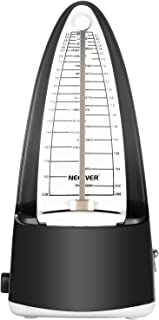 Neewer NW-708 Traditional Wind up Mechanical Metronome with Accurate Timing and Tempo for Piano Guitar Bass Drum Violin and Other Musical Instruments, Ideal for Music Lover,Beginner or Musician(Black)