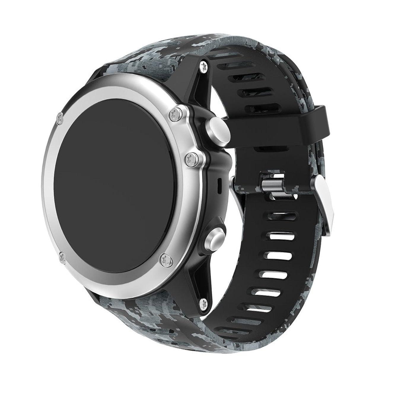 Celendi Replacement Silicagel Soft Band Strap for Garmin Fenix 5X GPS Watch (A)