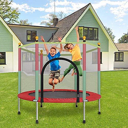 Trampolín Al Aire Libre, Cama Elástica para Niños Jardín Trampolín con Red De Seguridad Completa Peso Máximo 200 Kg Ideal para Niños Y Adultos