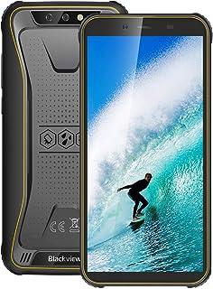 "Moviles Resistentes 4G, Blackview BV5500Plus Android 10.0 Smartphone, 5.5"" HD+ Pulgadas, 3GB+ 32GB(SD 128GB), 8MP+5MP, 4400mAh Batería, IP68 Telefono Movil Antigolpes, Dual SIM/GPS/NFC/Face ID"