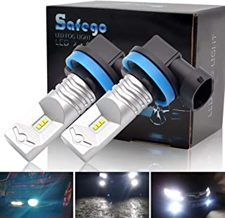 Safego 2x H11 LED Luz de Niebla Coche Exterior Bulbs 30W CSP LED Chips Blancoluz de Señal de Vuelta,Luz de la Cola 12V