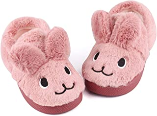 Toddler Girls Bunny Slippers Winter Warm Shoes Rabbit House Soft Slippers