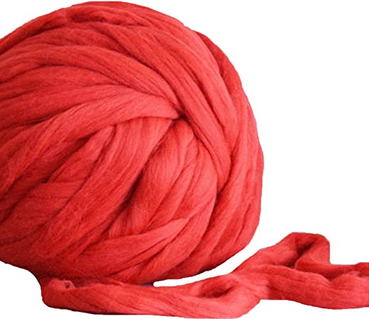 Chunky merino yarn  Giant knitting wool  Super bulky yarn for arm knitting  XXL Extreme Knitting merino wool knit yarn  Color GRAPE