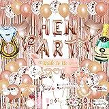 65 piezas de decoración de despedida de soltera Globos de oro rosa Banner de despedida de soltera Globos de despedida de soltera para suministros de fiesta Decoración de boda